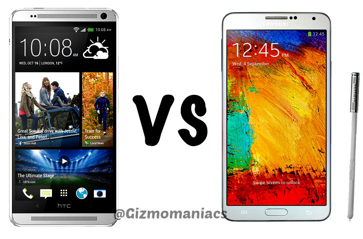 HTCOneMax vs Samsung Galaxy Note 3