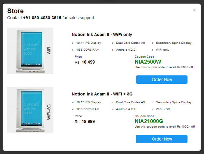 Notion Ink Adam 2 10.1-inch Tablet launched in India ...
