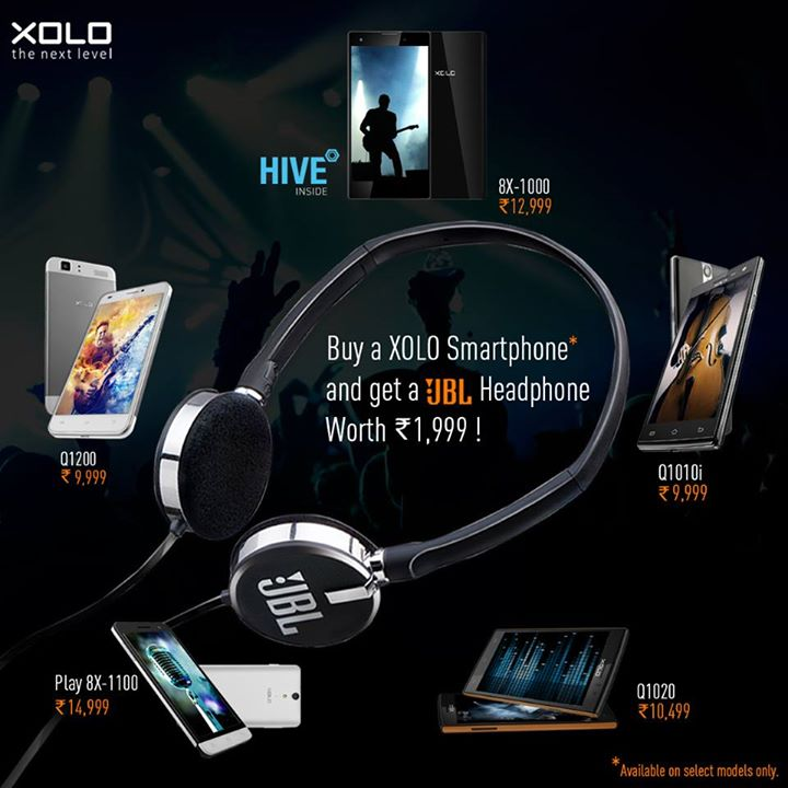 JBL headphones free with XOLO mobiles