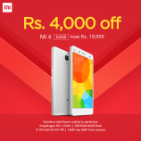 Xiaomi Mi4 64GB is now available for Rs. 19,999