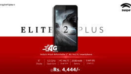 Swipe Elite 2 Plus with 5-inch display, 4G VoLTE launched for Rs. 4,444